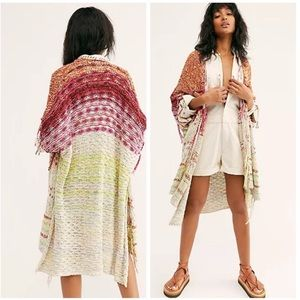 Free People Skies The Limit Duster Cardigan NWT
